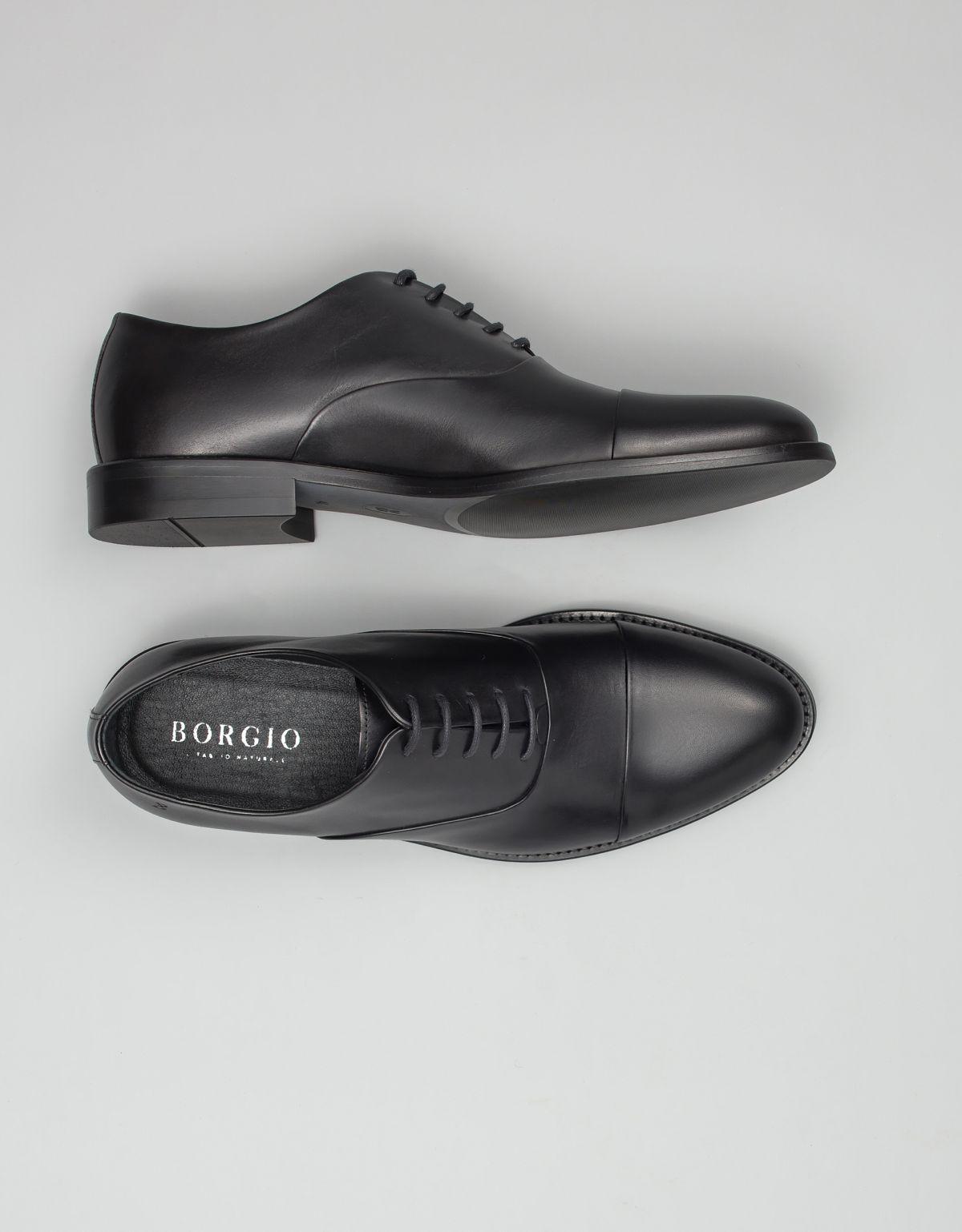 Czarne oxfordy - propozycja butów do granatowego garnituru